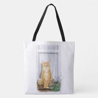 The Lavender Door Cat Tote Bag