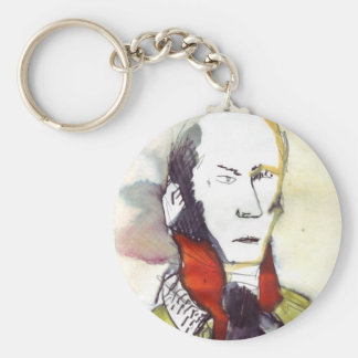 the lawyer man basic round button key ring