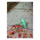 the lazy leaf-raker card