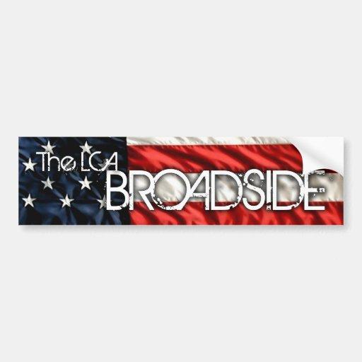 The LCA Broadside Bumper Sticker