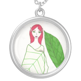 The Leaf Fairy Round Pendant Necklace