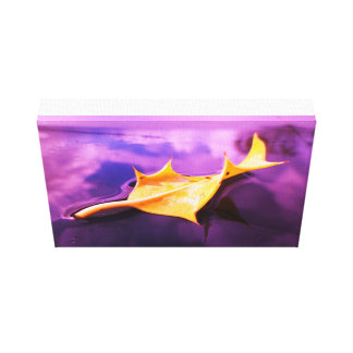 THE LEAF purple and yellow canvas print