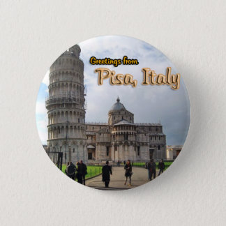 The Leaning Tower of Pisa, Italy 6 Cm Round Badge