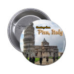The Leaning Tower of Pisa, Italy Badges