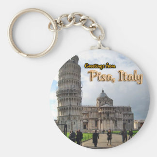 The Leaning Tower of Pisa, Italy Basic Round Button Key Ring