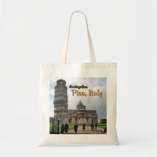 The Leaning Tower of Pisa, Italy Tote Bags