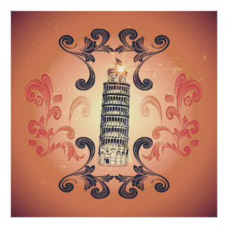 The leaning tower of Pisa Print