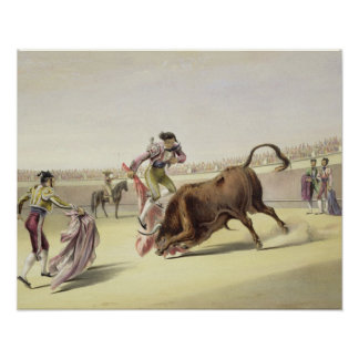 The Leap or Salta Tras Cuernos, 1865 (colour litho Print