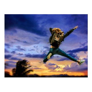 The leap! postcard