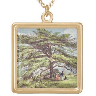 The Lebanon Cedar Tree in the Arboretum, Kew Garde Personalized Necklace