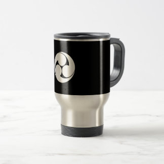 The left three-sided crest (area pulling out travel mug