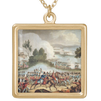 The Left Wing of the British Army in Action at the Gold Plated Necklace
