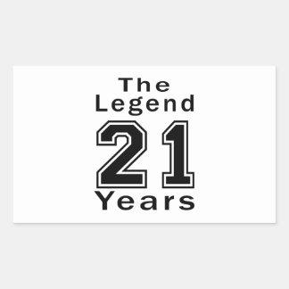 The Legend 21 Years Birthday Gifts Sticker