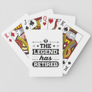 The Legend Has Retired Playing Cards