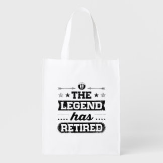 The Legend Has Retired Reusable Grocery Bag