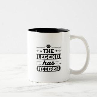 The Legend Has Retired Two-Tone Coffee Mug