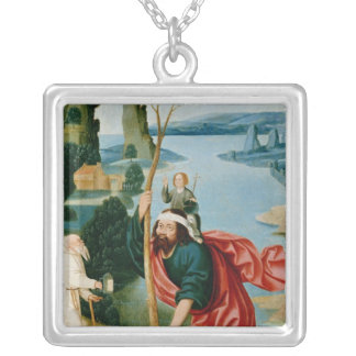 The Legend of St. Christopher Silver Plated Necklace