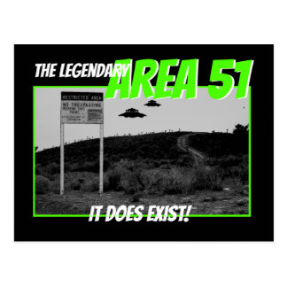 The Legendary Area 51 Postcard