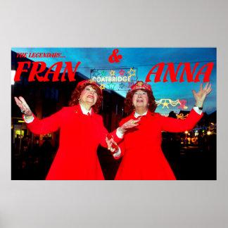the legendary fran & anna poster