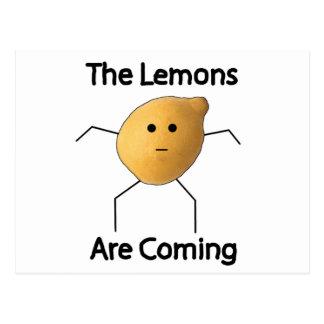 The Lemons are Coming! Postcard