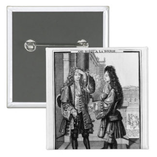 The Lender and the Borrower 15 Cm Square Badge