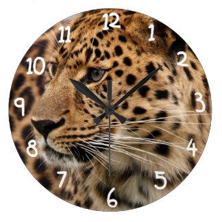 The Leopard Large Clock