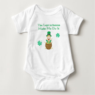 The Leprechauns Made Me Do it Baby Bodysuit