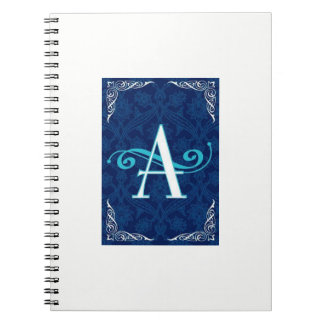 THE LETTER   *A *  MONOGRAMED NOTEBOOK