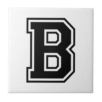 The Letter B, Collegiate Alphabet Small Square Tile