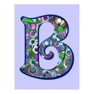 The Letter B Postcard