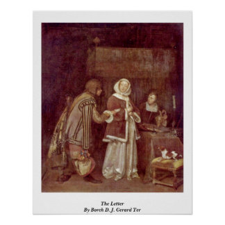 The Letter By Borch D. J. Gerard Ter Print