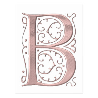 The Letter Initial Monogram B Postcard
