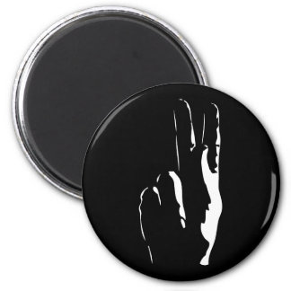 the letter K in sign language Magnet