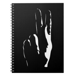 the letter K in sign language Notebook