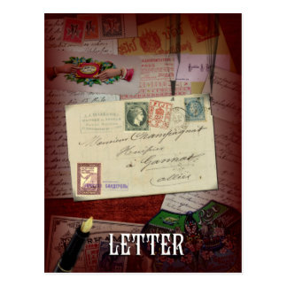 """The Letter"" Lenormand Postcard"