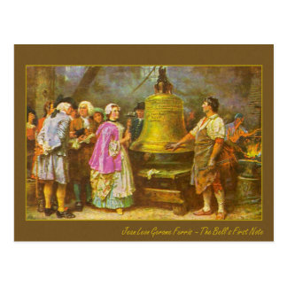 The Liberty Bell's First Note Postcard