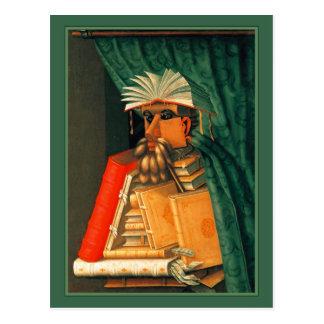 The Librarian by Giuseppe Acrimoldo Postcard