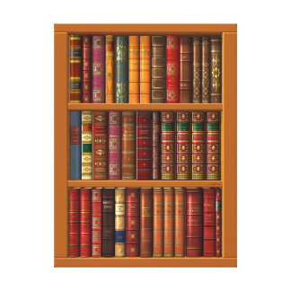 The library of classical books canvas print