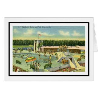 The Lido Pool  Sarasota, Florida Card