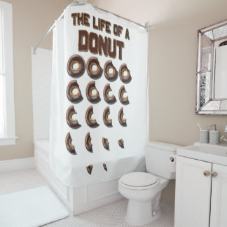 The Life of a Doughnut Shower Curtain