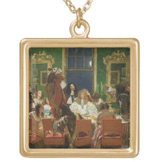 The Life of Buckingham, 1853-55 (oil on canvas) (s Gold Plated Necklace
