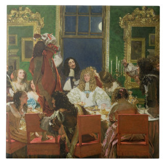The Life of Buckingham, 1853-55 (oil on canvas) (s Large Square Tile
