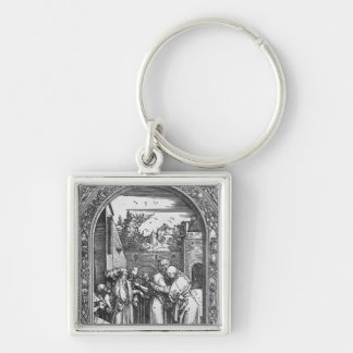 The 'Life of the Virgin' series Silver-Colored Square Key Ring