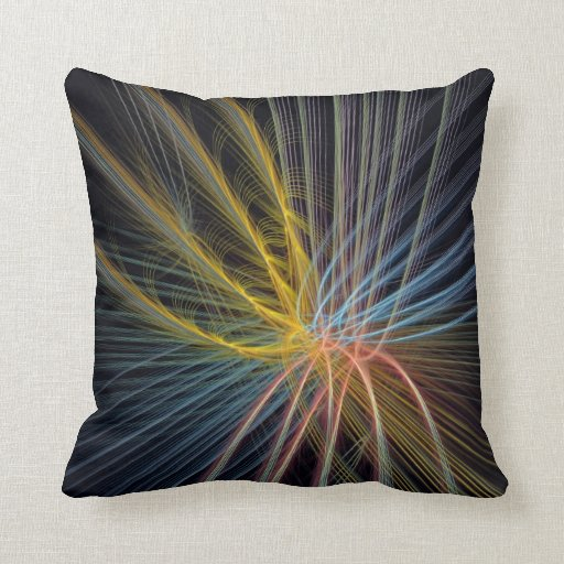 The Light Fountain, artistic abstract Pillow