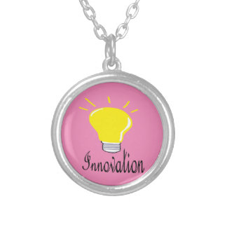 the light of innovation silver plated necklace