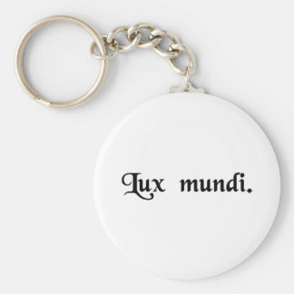 The light of the world basic round button key ring