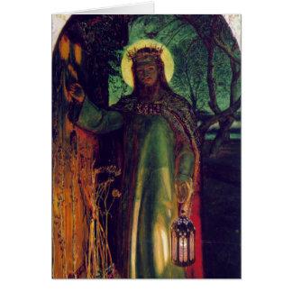 The Light of the World. William Holman Hunt. 1854 Card