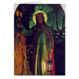 The Light of the World. William Holman Hunt. 1854 Greeting Card