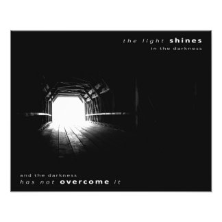 """""""The Light Shines in the Darkness"""" (20"""" x 16"""") Photo Print"""