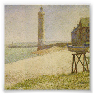 The Lighthouse at Honfleur by Georges Seurat Photo Print